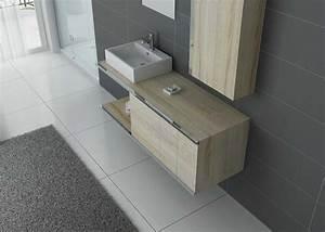 Meuble Simple Vasque : meuble de salle de bain simple vasque scandinave dis9450sc ~ Teatrodelosmanantiales.com Idées de Décoration