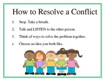 conflict resolution poster   slauenwhite teachers
