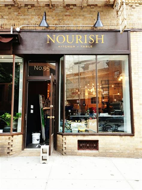 Right on park ave in midtown this coffee shop has the cutest decor very classic with touches of modern color, even the historically. Nourish Kitchen + Table | Cute coffee shop, Shop facade ...