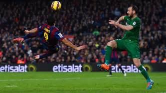 FC Barcelona Bicycle Suarez Goal