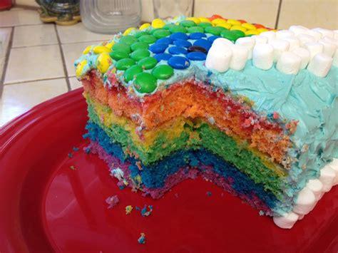 Inside the yummy rainbow cake | Cake, Desserts, Rainbow cake