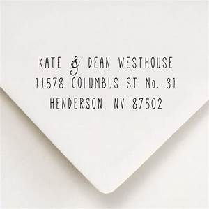 return address stamp skinny font return address for With font for return address labels wedding invitations