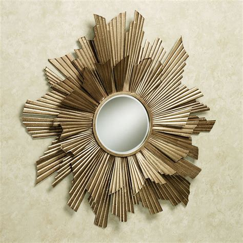 arlette contemporary mirrored metal wall
