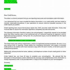 sample of dispute letter to credit bureau letter of With attorney credit repair letter