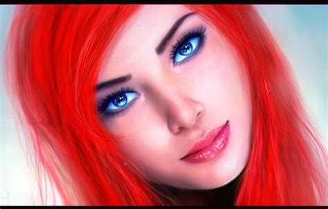 Wallpaper Look, Face, Background, Blue Eyes, Ariel, The