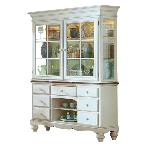china cabinet hutch hillsdale pine island buffet and hutch china cabinets at