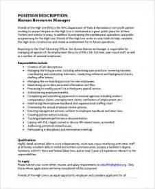 sle human resources description 7 exles in pdf