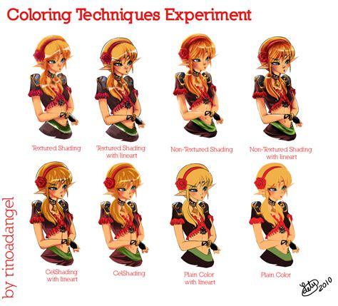 Coloring Techniques by Coloring Techniques Experiment By Rinoadangel On Deviantart