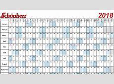 Zum Download Kalender und Terminplaner 2018 gratis