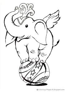 Circus Elephant Coloring Page