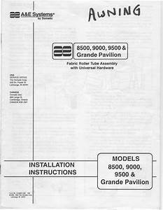 1983 Fleetwood Pace Arrow Owners Manuals  A U0026e Patio Awning