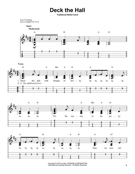 Deck The Halls Guitar Chords G by Deck The By Traditional Carol Ukulele