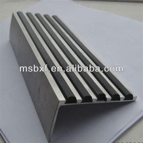 non slip grooved tread stair edge step nosing for tiles buy aluminium bullnose stair nosing