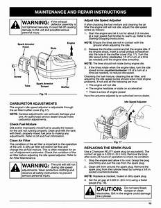 Caution  Warning  Maintenance And Repair Instructions