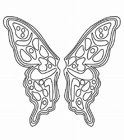 Coloring Wings Pages Butterfly Angel Pattern Fairy