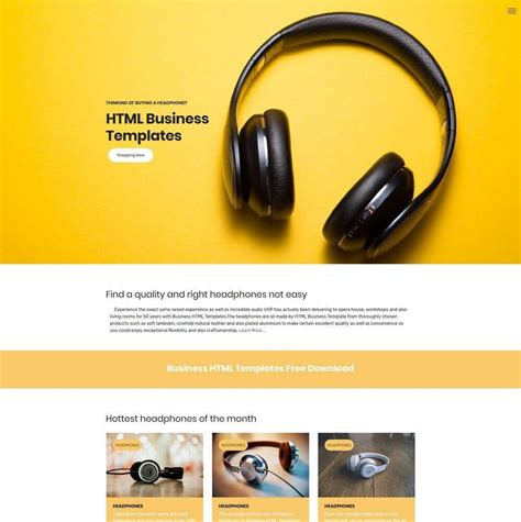 Ecommerce Template Mobirise by Free Bootstrap Template 2018