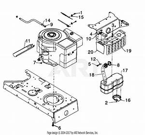 Mtd 13am673g022  1997  Parts Diagram For Muffler  U0026 Engine Attachments