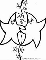 Coloring Pages Starfish Printable Labels Animal sketch template