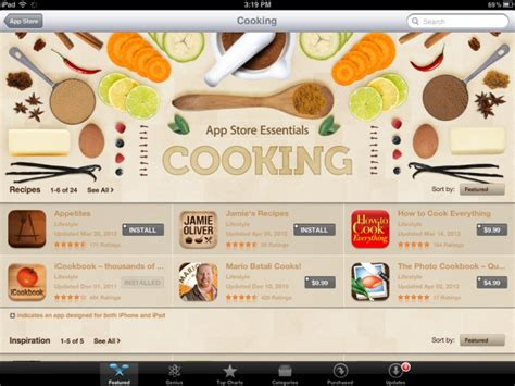 applications cuisine apple to add 39 food drink 39 section to ios app store developer email confirms appadvice