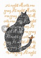 """at night all cats are grey"" Mixed Media art prints and ..."