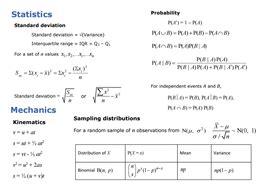 a level 2017 formulae sheet condensed edexcel by