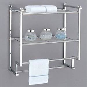 Towel Rack Bathroom Shelf Organizer Wall Mounted Over