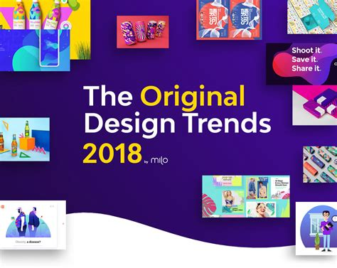 graphic design trends 2018 design trends guide by milo on behance