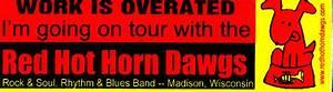 Red Hot Horn Dawgs Bumper Sticker!