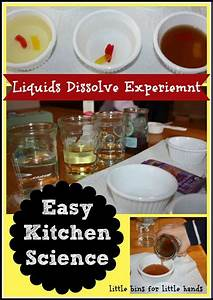 dissolve science experiment bins for