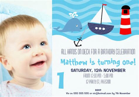 FREE 14+ Baby Boy First Birthday Designs & Examples in PSD