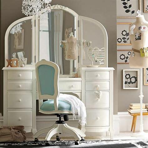bureau coiffeuse fille chambre ado fille optez pour une déco moderne et colorée
