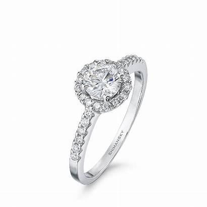 Halo Round Ring Brilliant Diamond Micro Cut