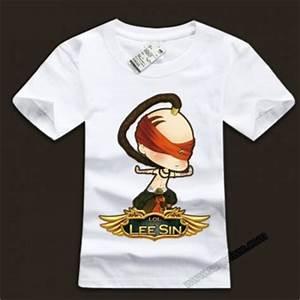 LOL Lee Sin Blind Monk Ink White T Shirts Wishining