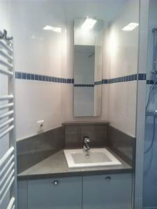 Salle De Bain Moderne Petit Espace : salle de bains dans un petit espace loge de concierge ~ Dailycaller-alerts.com Idées de Décoration