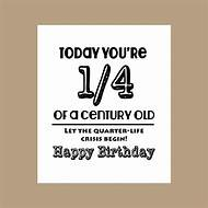 Funny Happy 25th Birthday Cards