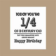 Funny Happy 25th Birthday Cards