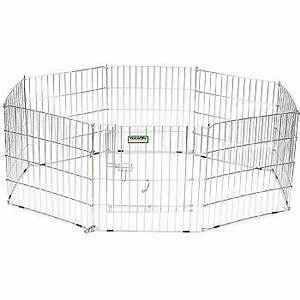 precision pet eight panel silver wire pen 24 w x 30 h With precision dog pen