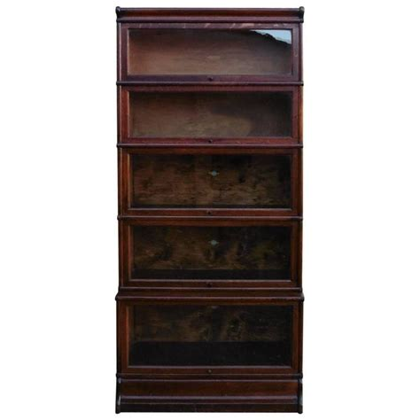 barrister bookcase for sale five section waterfall oak globe wernicke barristers