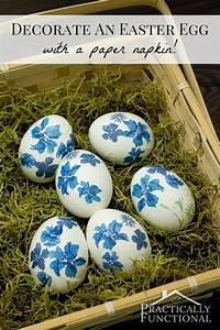 How To Decorate Easter Eggs With Paper Napkins!
