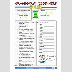 Grammar For Beginners Nouns (2)  Free Esl Worksheets  Useful Things  Pinterest Worksheets