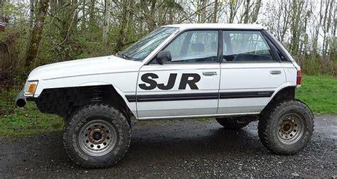 subaru justy lifted 6 quot lift 31 quot tires subaru ea82 by scott in bellingham via