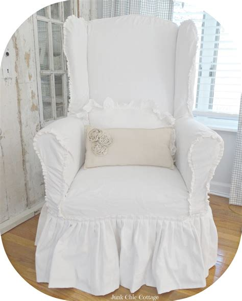 wing chairs slipcovers junk chic cottage sunday ahaaa this is exactly