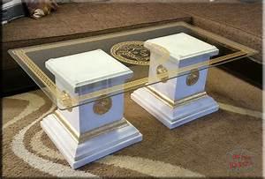 Sto Farbe Weiß : designer s ulen couchtisch medusa m ander wohnzimmertisch tisch glastisch s ule ebay ~ Orissabook.com Haus und Dekorationen