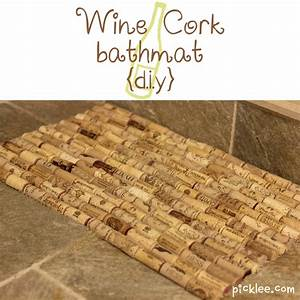 wine cork bath mat i39m thinking to string them together With bathroom cork mat