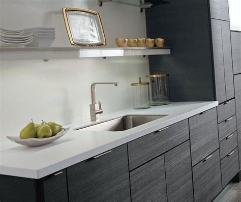contemporary laminate kitchen cabinets  woodgrain