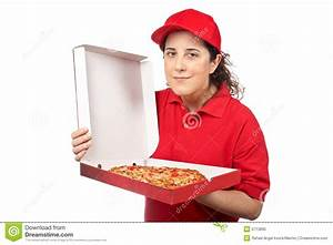 Pizza Delivery Woman Stock Photo - Image: 5713890