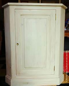 Meuble En Coin : meuble de coin en pin patine a l 39 argile l 39 atelier des couleurs et ses secrets ~ Teatrodelosmanantiales.com Idées de Décoration