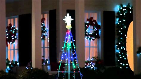 gemmy lightshow starry night multicolor led mega tree