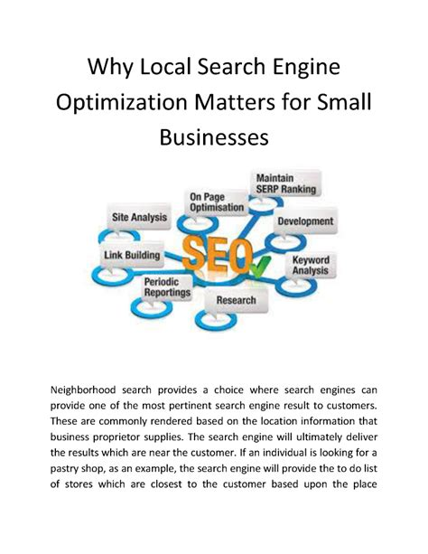 Small Business Search Engine Optimization by Why Local Search Engine Optimization Matters For Small
