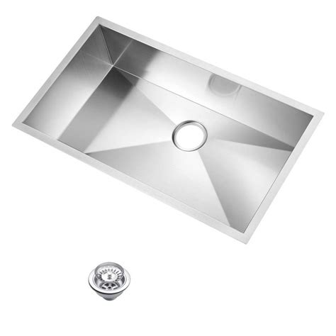 zero radius kitchen sink water creation undermount zero radius stainless steel 1709